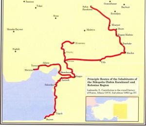 Principle-routes-Nikopolis-and-Kolonias